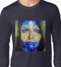 Blue Download (self portrait) Long Sleeve T-Shirt