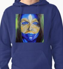 Blue Download (self portrait) Pullover Hoodie