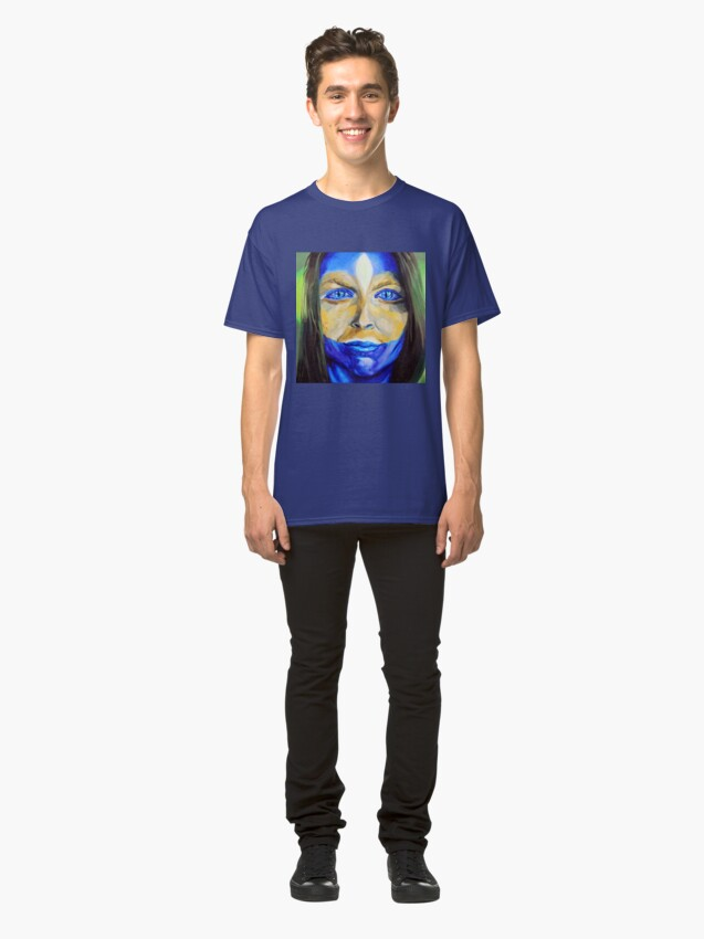 Alternate view of Blue Download (self portrait) Classic T-Shirt
