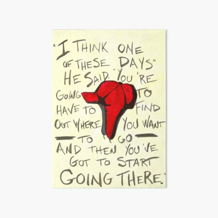 The Catcher in the Rye - Holden's Red Hunting Cap Art Board Print