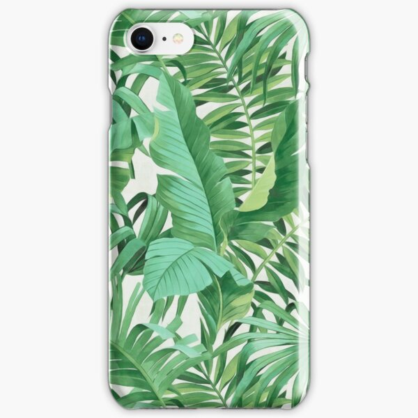 Green tropical leaves II iPhone Snap Case