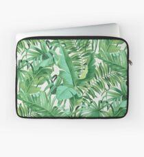 Green tropical leaves II Laptoptasche