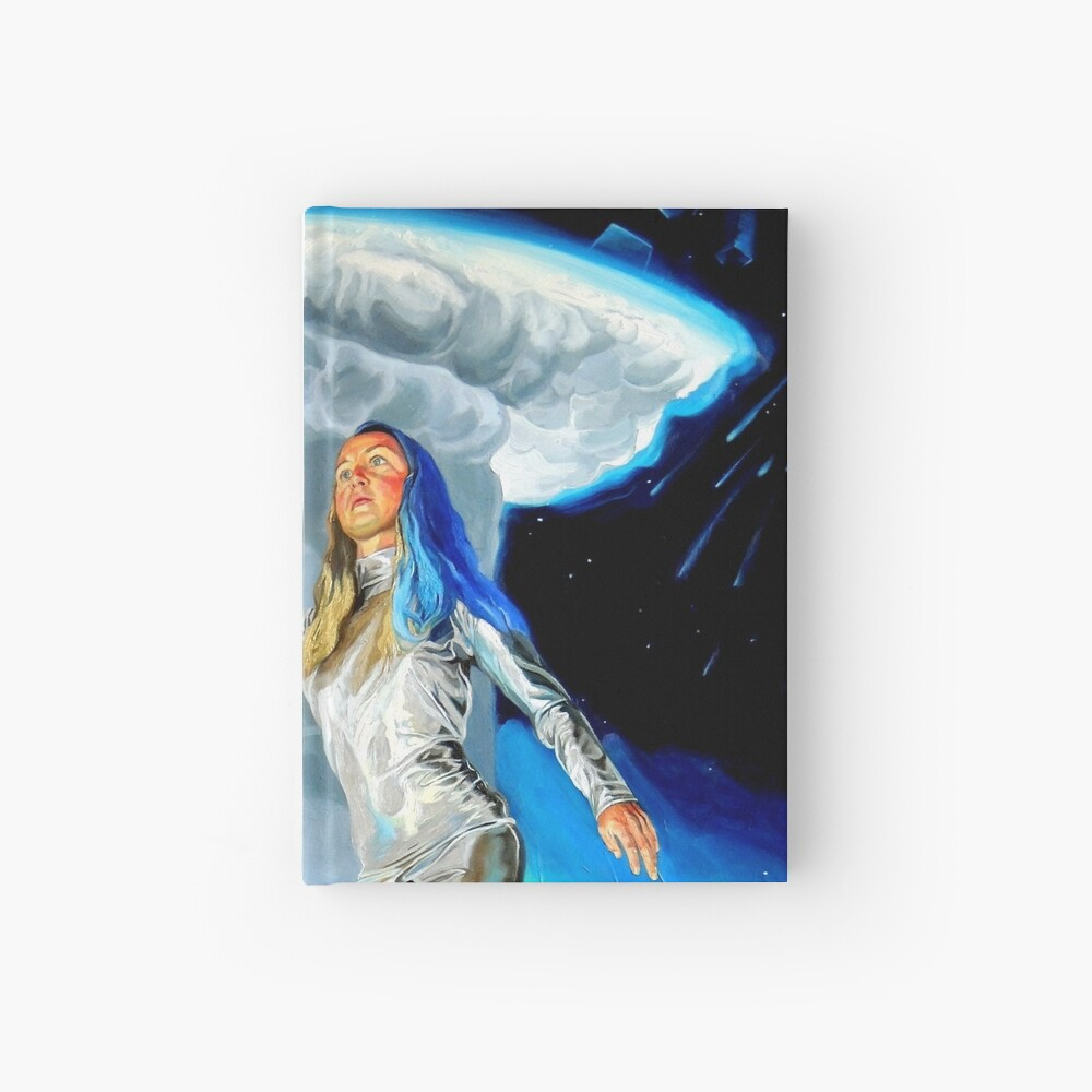 Space Woman Knows the Way Hardcover Journal