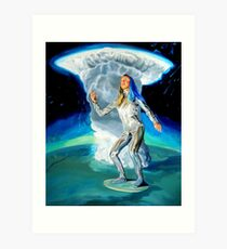 Space Woman Knows the Way Art Print