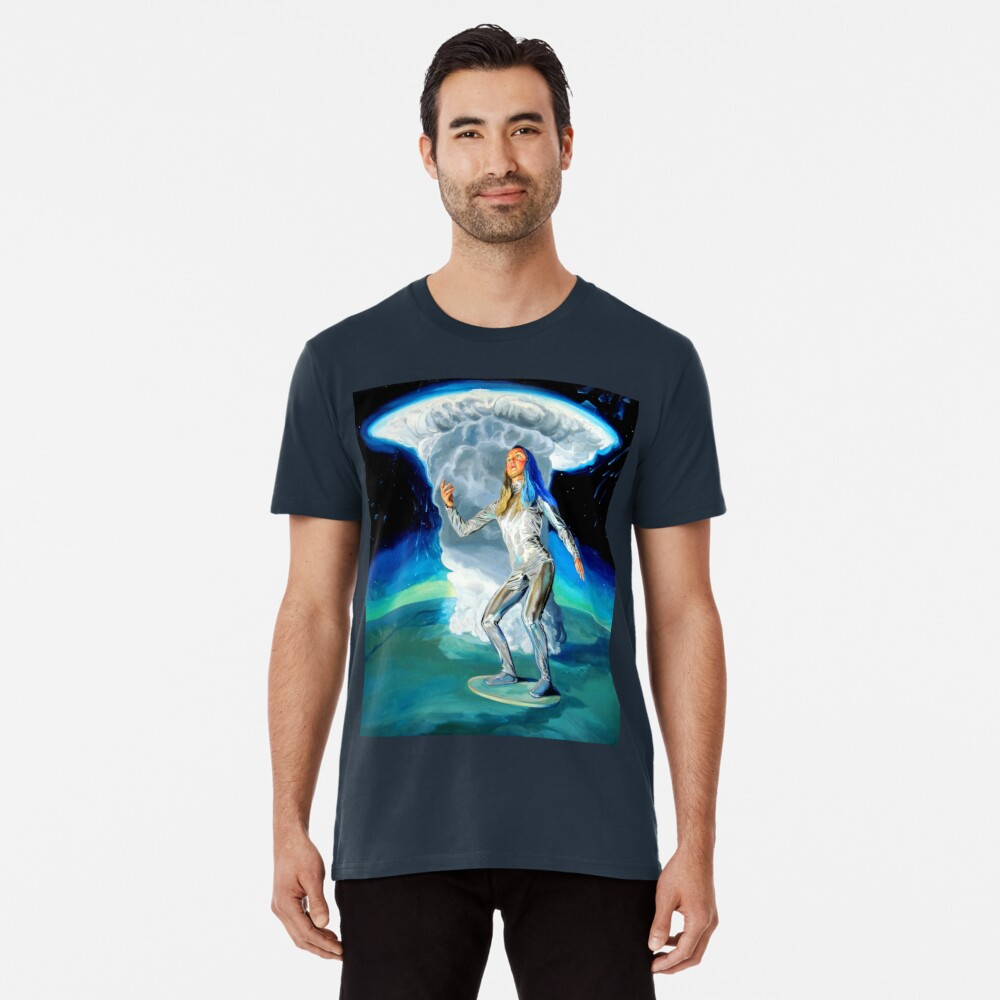 Space Woman Knows the Way Premium T-Shirt