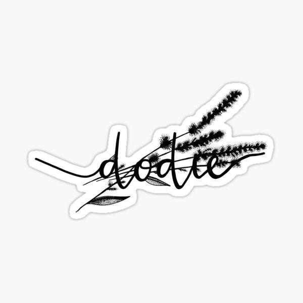 Dodie Clark Doddleoddle signature and tattoo Sticker