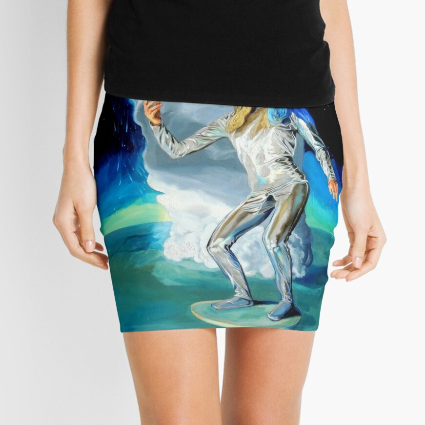 Space Woman Knows the Way Mini Skirt