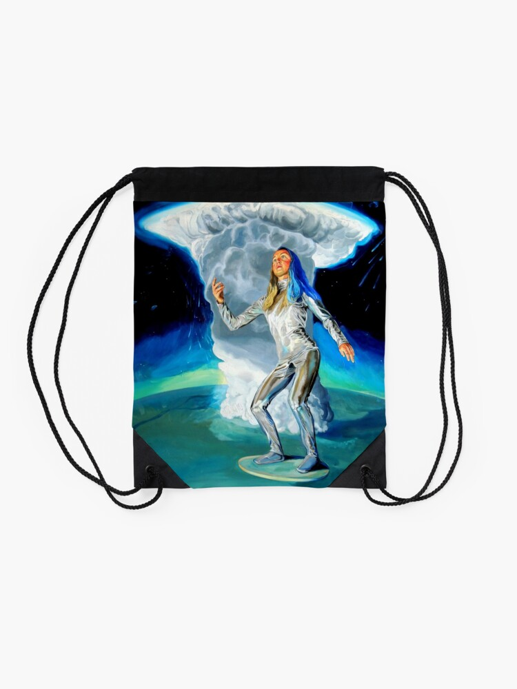Alternate view of Space Woman Knows the Way Drawstring Bag