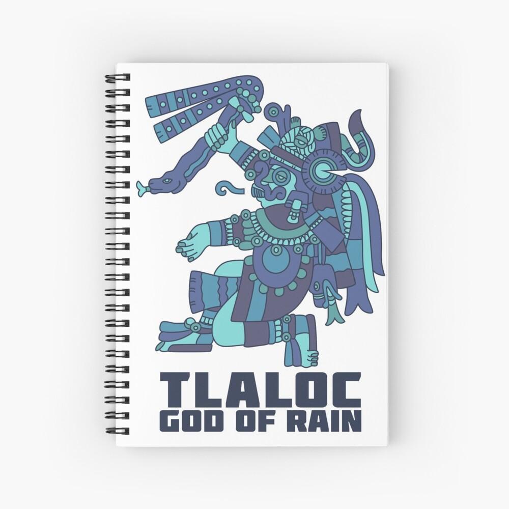 Tlaloc, God of Rain Spiral Notebook