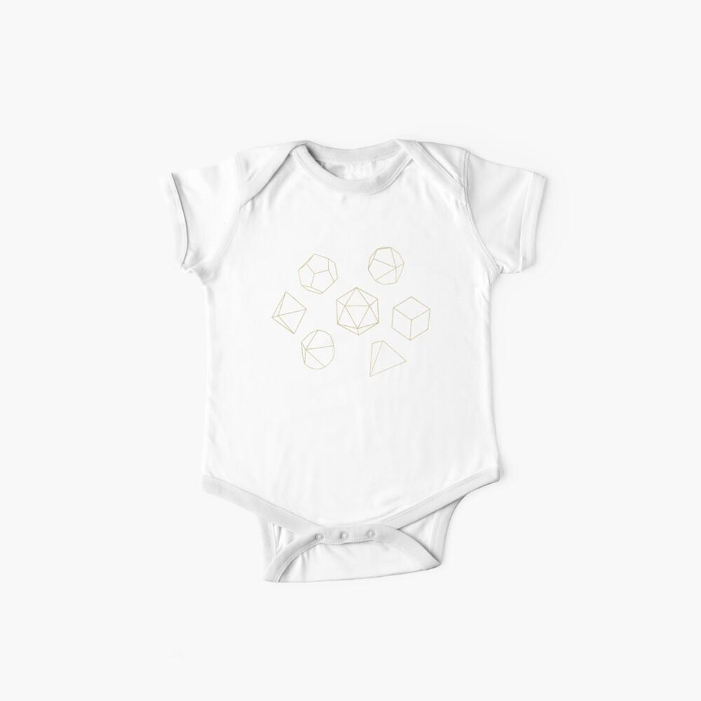 Esquema de dados en oro + marrón Body para bebé