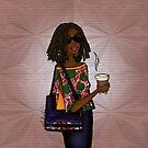 Modern African Woman - Warm Ankara African print by cardwellandink