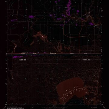 USGS TOPO Map Louisiana LA Black Lake 331468 1955 24000 Inverted by wetdryvac