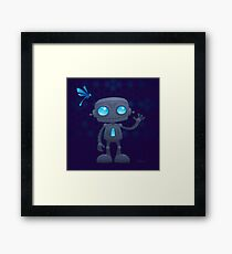 Waving Robot Framed Print