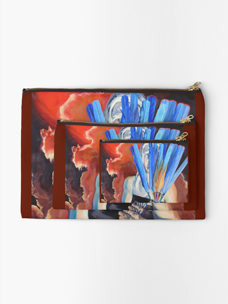 Alternate view of You Cannot Hide Any Longer Zipper Pouch