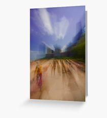 Oak Street Beach zoom blur Greeting Card