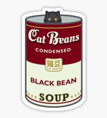 Cat Beans Soup Can Sticker