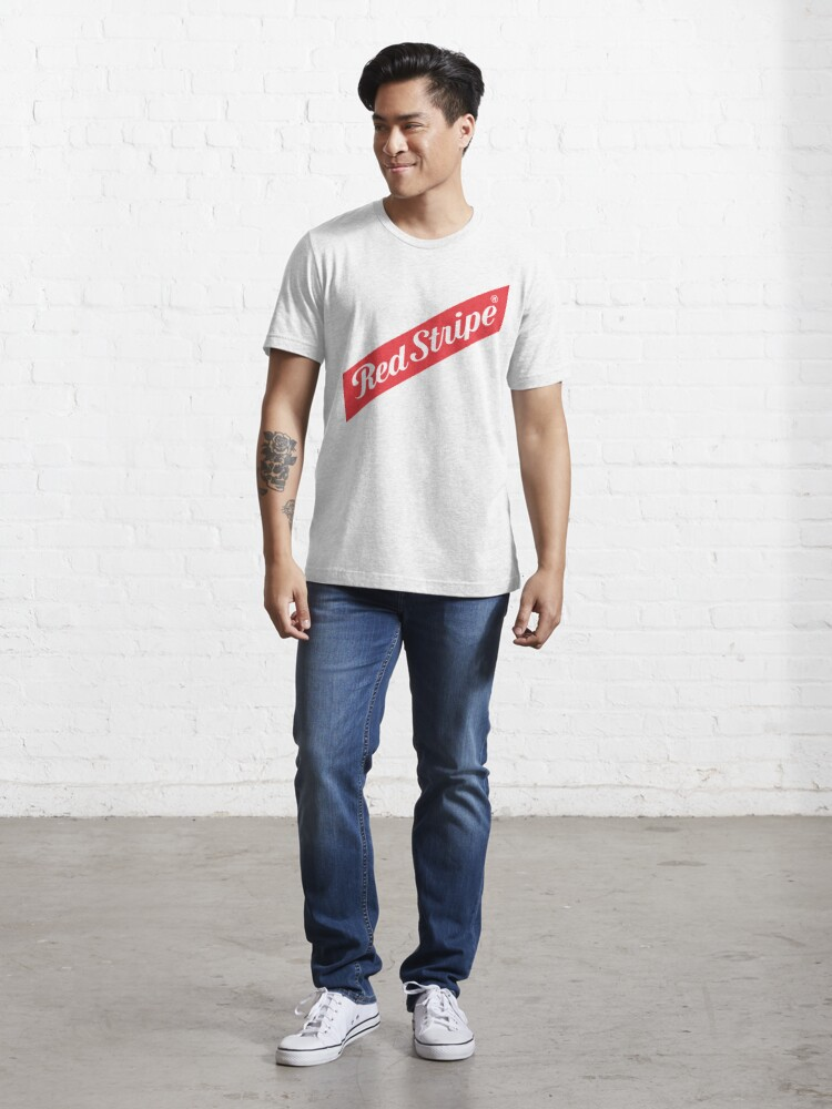 Alternate view of red stripe Essential T-Shirt