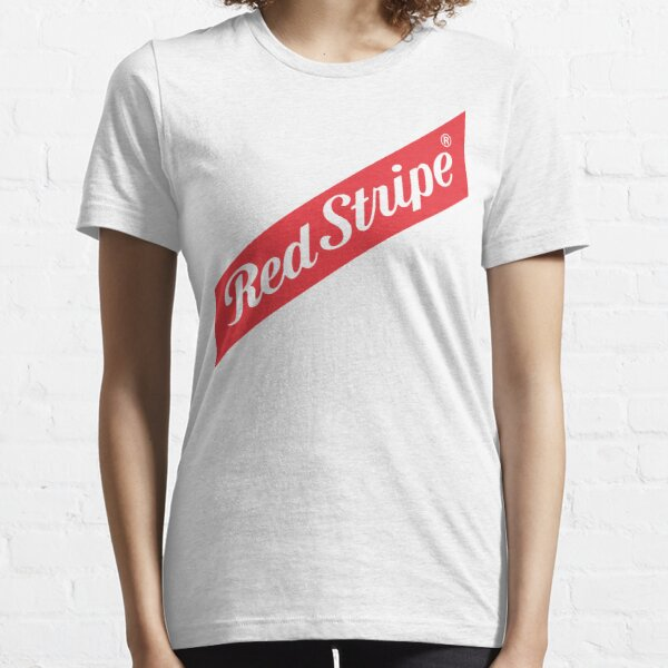 roter Streifen Essential T-Shirt