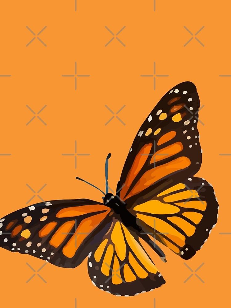 Monarch Butterfly - Burnt Orange by BeThreeDesigns