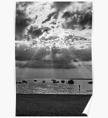 Sunrays in Black and white Poster