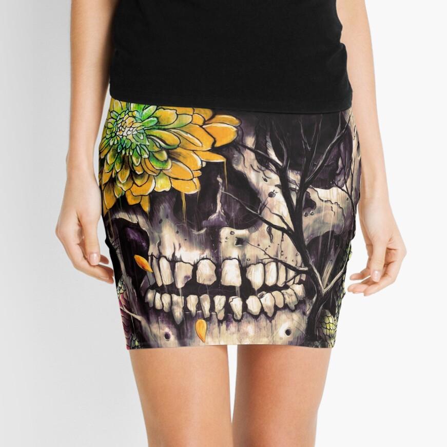 Snake and Skull Mini Skirt