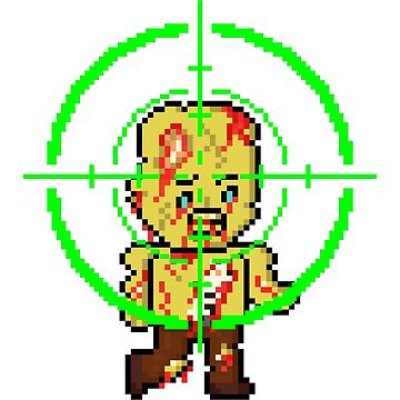 Pixel Zombie in Crosshairs by gkillerb