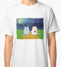 Cats under the moon Classic T-Shirt