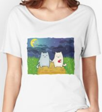 Cats under the moon Women's Relaxed Fit T-Shirt