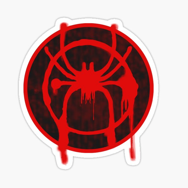 Into The Spiderverse Logo Sticker Sticker