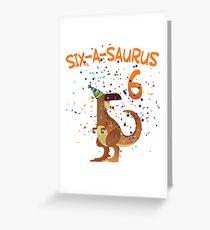 6. Geburtstag Dino  Grußkarte