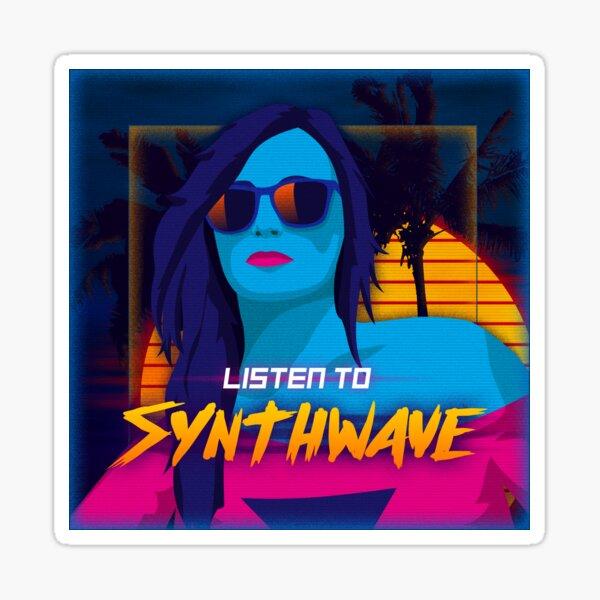 Listen to Synthwave Sticker
