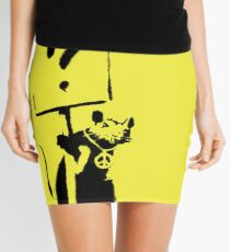 Peace / Love Protester  Mini Skirt