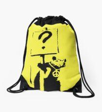 Peace / Love Protester  Drawstring Bag
