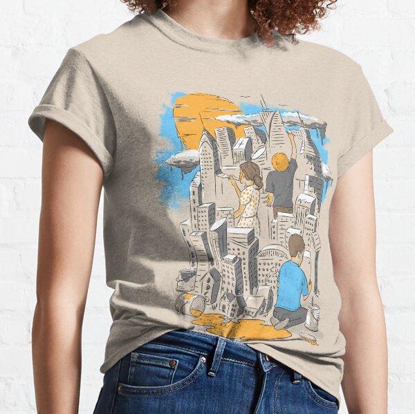 gemalt und zum Leben erweckt von den Köpfen dreier Kinder. Classic T-Shirt