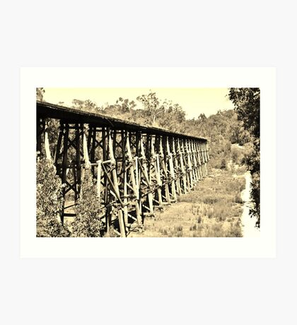 Old Trestle Bridge. Art Print