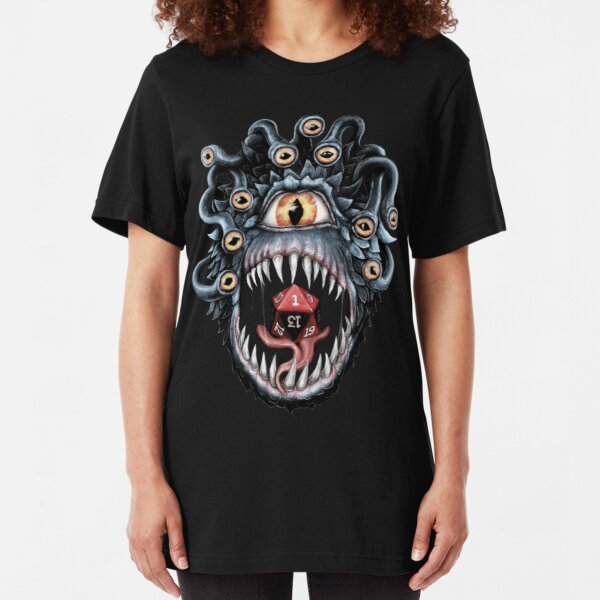 In the Beholder D20 Slim Fit T-Shirt