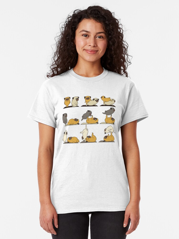 Alternate view of AcroYoga with The Pug Classic T-Shirt