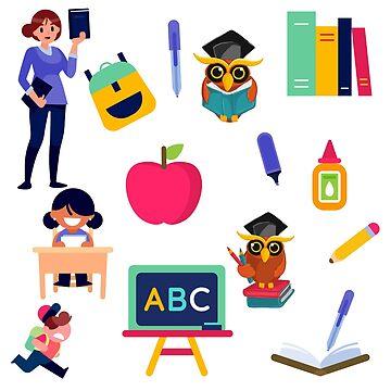 Back To School School Theme Pattern by Artification