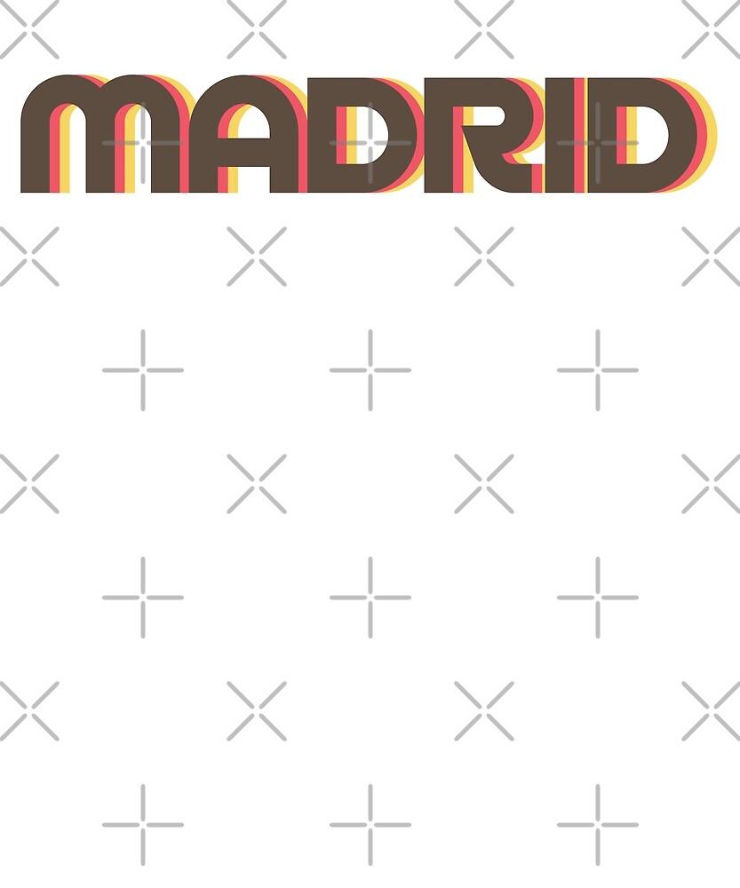 Retro Madrid T-Shirt by designkitsch