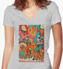 Half Truth Women's Fitted V-Neck T-Shirt