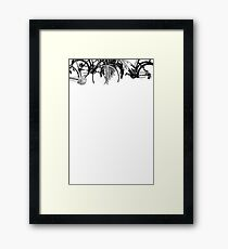 white two | bicycles Framed Print