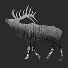 Elk Snowing Forest by by-jwp