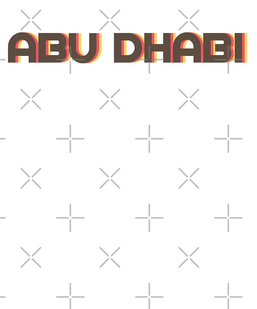 Retro Abu Dhabi T-Shirt by designkitsch