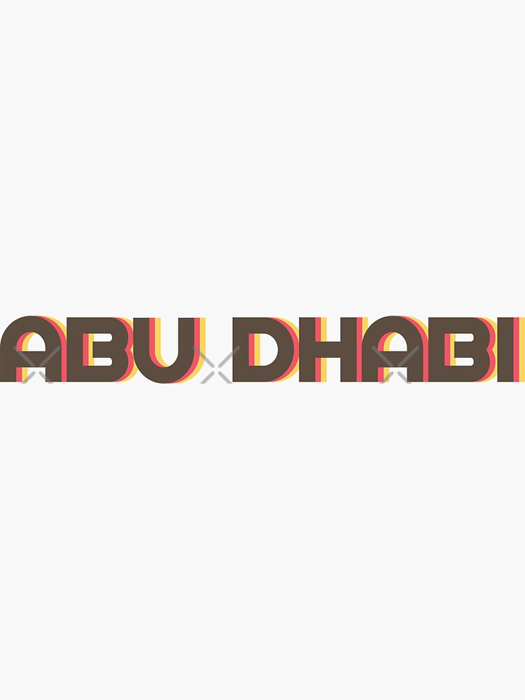 Abu Dhabi Retro by designkitsch