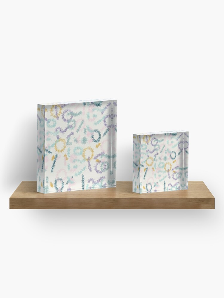 Alternate view of Playful #redbubble #abstractart Acrylic Block