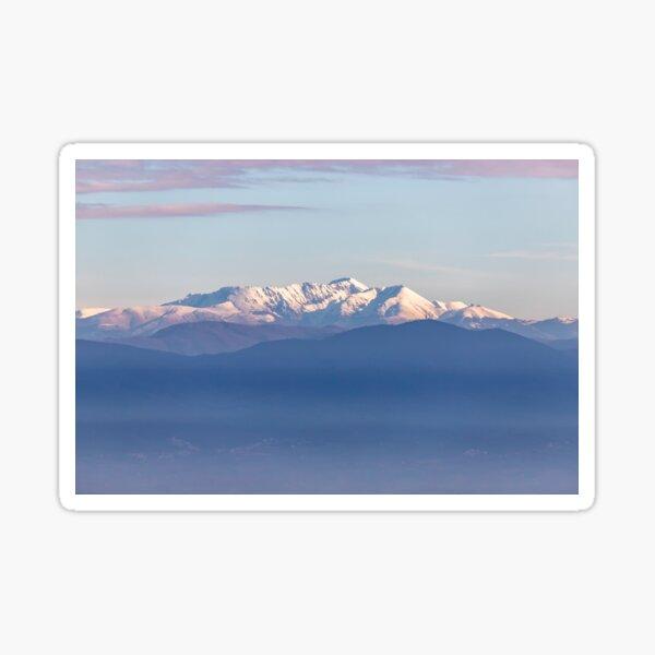 Snowy Italian Apennines mountains Sticker