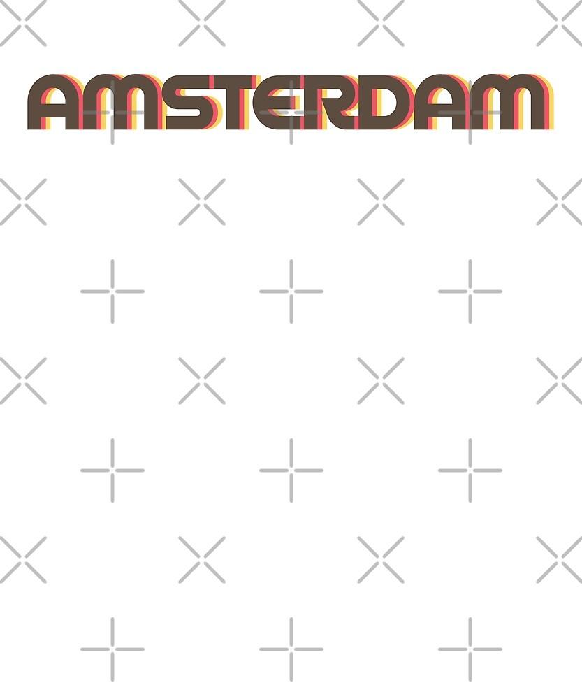 Retro Amsterdam T-Shirt by designkitsch