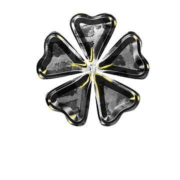 Schwarzes Kleeblatt Kunst von WolflandShirts