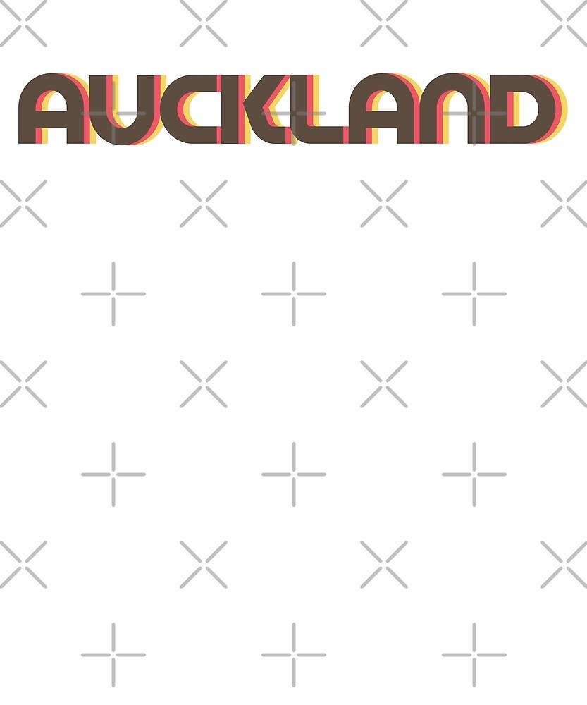 Retro Auckland T-Shirt by designkitsch