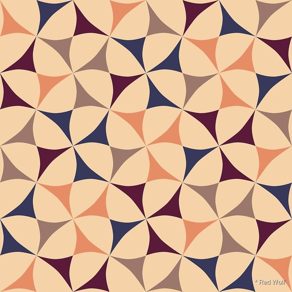 Geometric Pattern: Windmill: Autumn by * Red Wolf